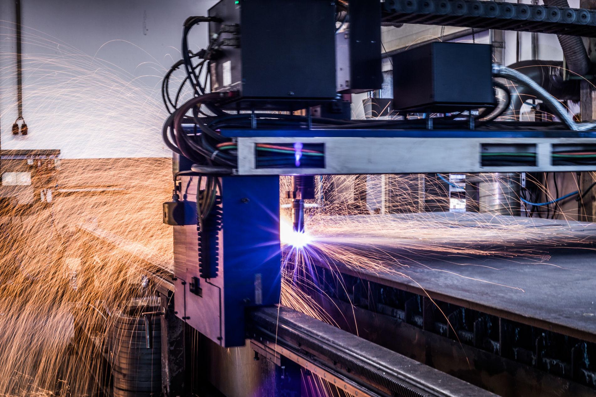CNC Plasmaschneiden Maschinenbau Frick